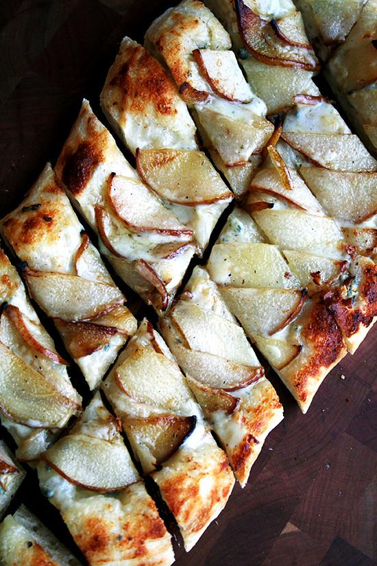 Alsatian Flatbread with Pears & Gorgozola
