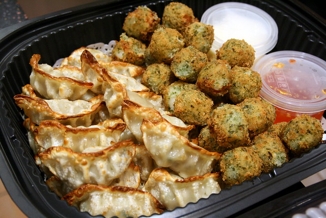 CP Snax Party Tray - Chicken Gyoza and Seaweed Cuttlefish Ball