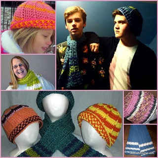 Raised-Stripes-Hat-and-Scarf-Free-Crochet-Patterns