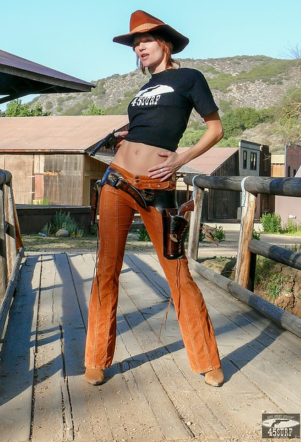 Beautiful Redhead Cowgirl In Cowboy Boots Amp Cowboy Hat