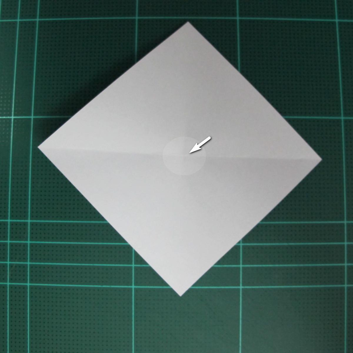 วิธีพับกระดาษเป็นรูปลูกสุนัข (แบบใช้กระดาษสองแผ่น) (Origami Dog) 007