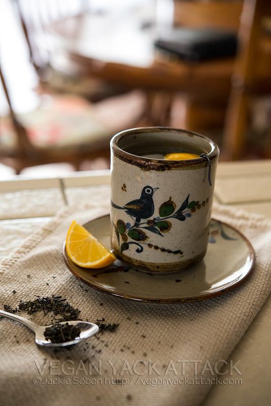 Vintage ceramic mug and saucer with bird on it
