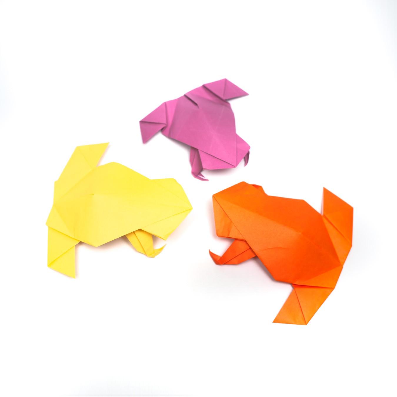 วิธีการพับกระดาษเป็นรูปกบสไตล์โคลับเบี้ยน (Origami Frog) 004