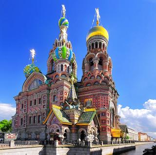 Iglesia del Salvador sobre la sangre derramada o Iglesia de la Resurrección de Cristo, en San Petersburgo.