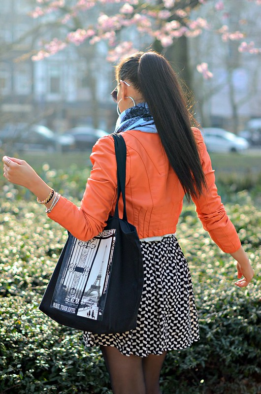 DSC_7033 orange jacket, myca couture, babyblue scarf