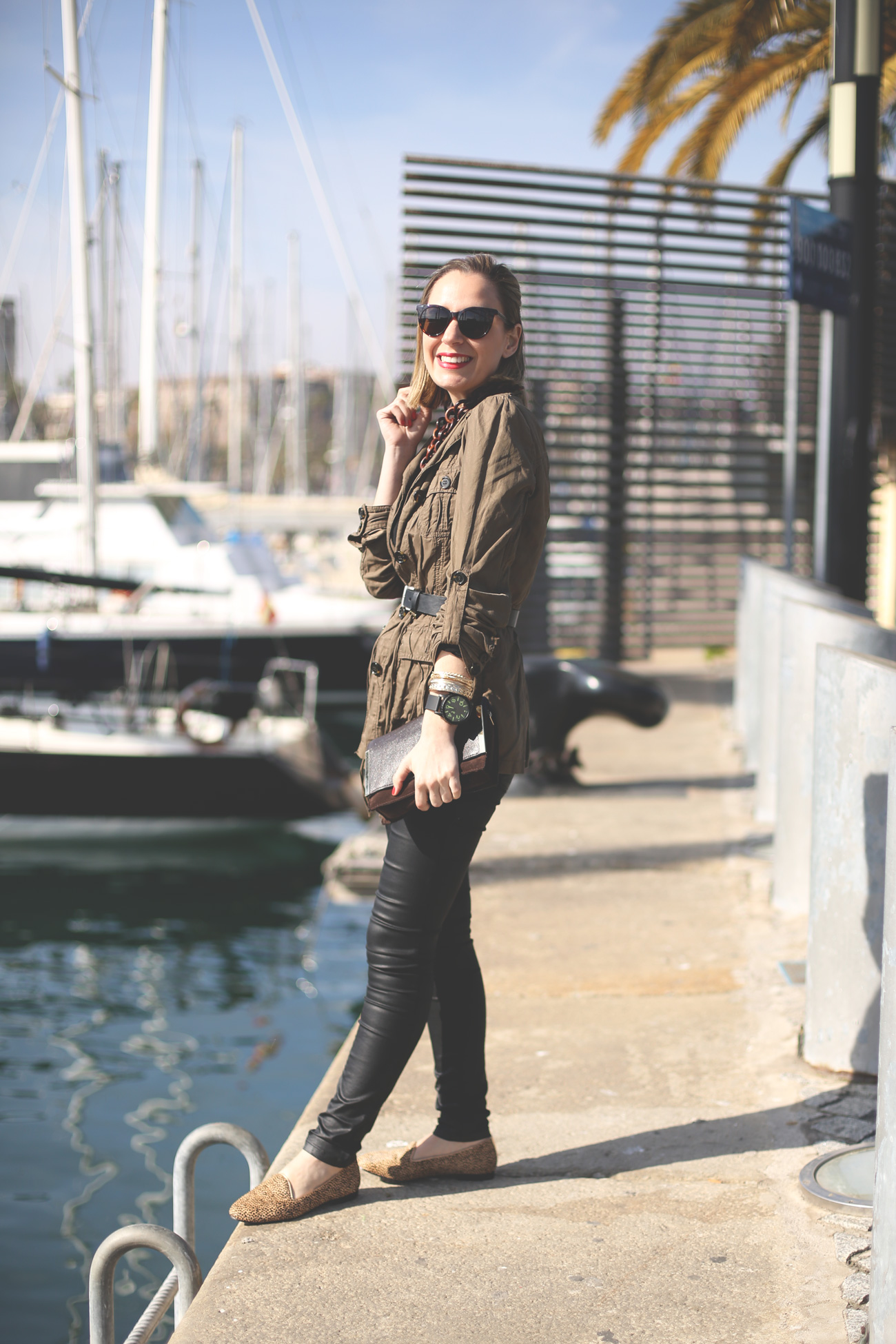 marc jacobs, parka, fashion, spanish blogger, street style, slippers, 338 online, vince camuto, leopard, black jeans,