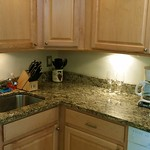 Granite counters in kitchen