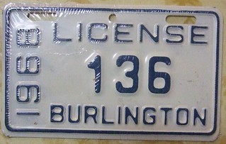 BURLINGTON ONTARIO 1968--- CITY LICENSE