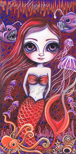 """Deep Sea Mermaid"" painting by Jaz Higgins"
