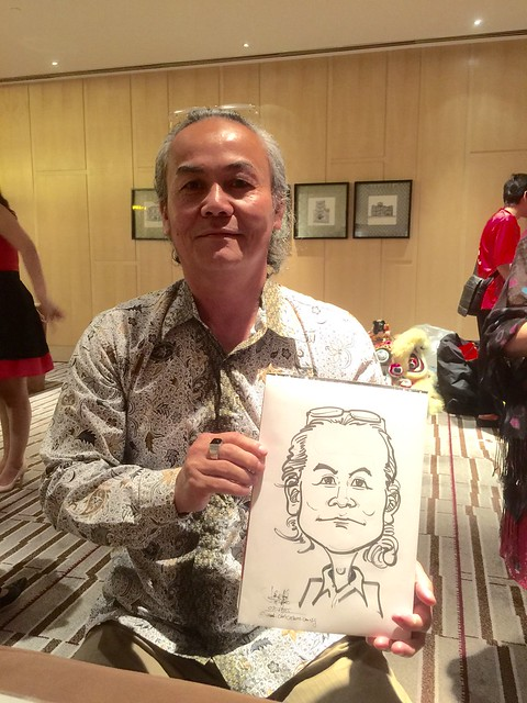 Caricature live sketching for Yanson Berhad Holdings Annual Dinner 2015