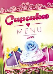 Cupcakes menu front