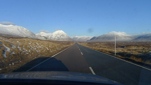 Empty Road in Scotland