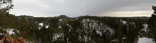panorama norway norge nikon geocaching pano hill cache viewpoint stitched larvik vestfold kråka mrpb27 18200mmf3556gedifafsvrdx d5200 gcinfo pse11 dxopro8 utsiktpunkt gc5j821 kråkeliåsen eikedal tverrfjorden