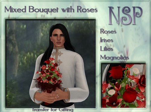 NSP Mixed Rose Bouquet - Ruby Reds