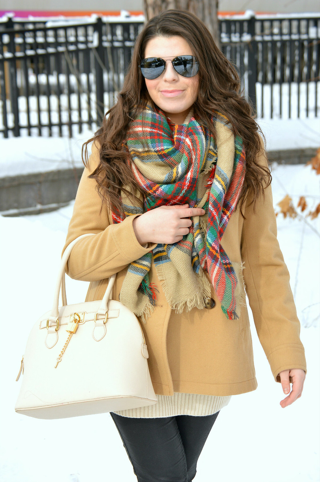 pea coat and blanket scarf 2