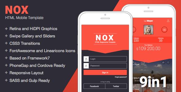 NOX v1.5 - Mobile Responsive Template