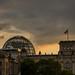 Bundestag at Sunset