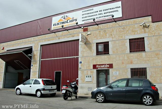 Sede actual de Auto Electrochips en el Polígono de los Villares.