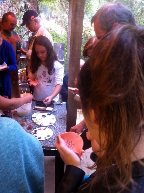 Dia do Ceramista  2 Pintura óxidos, terras e corantes