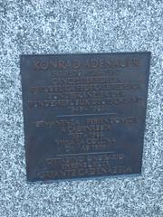 Photo of Konrad Adenauer bronze plaque
