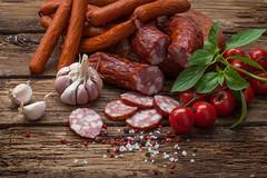 smoked sausage and vegetables