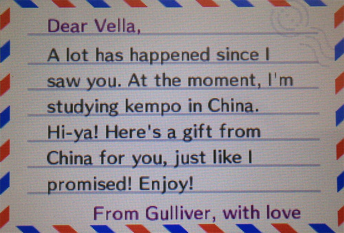 Gulliver's Letter from China