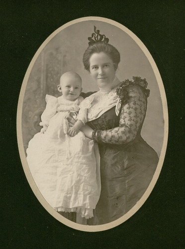 Blanche Chenoweth and her son