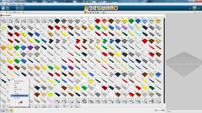 How To Create A Custom Brick Palette In Ldd Lego Digital
