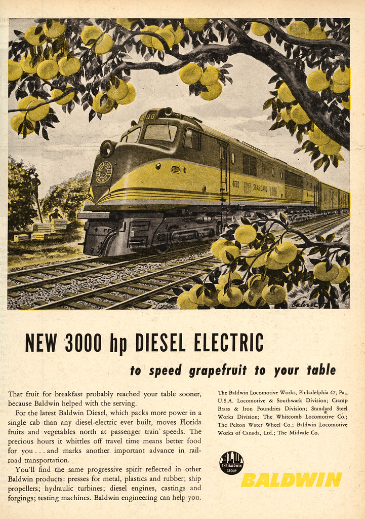 Baldwin diesel locomotive ad 1946