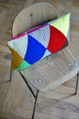 wood & wool harlequin pillow 023