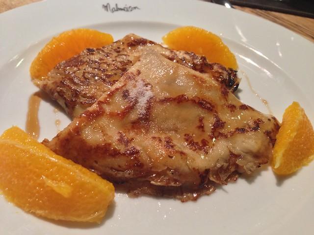 malmaison brunch crepes suzette
