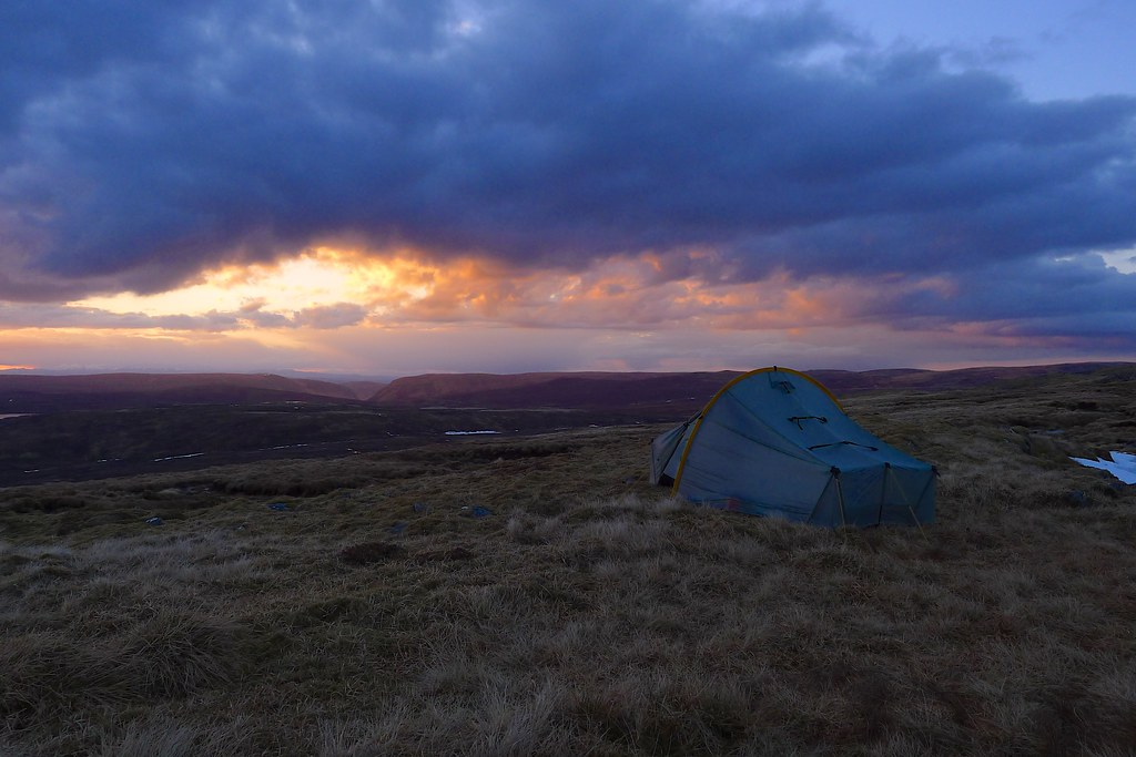 Wild Camping at Sunset