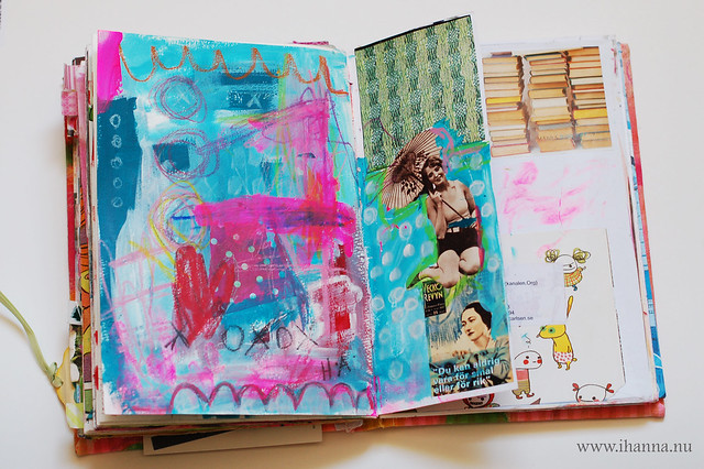Art Journal: Collage and painterly mess