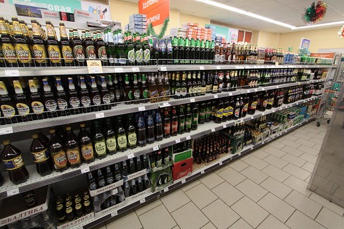 Entire aisle of beer in this Russian supermarket