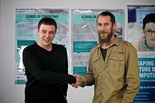 Neil McIvor awarded the DEER Digital Prize, presented by Mark Innes