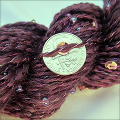 Purple Fortune handspun, close up