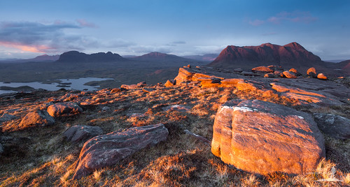 light sunset cloud rock canon scotland highlands stac pollaidh polly cul loch moor sutherland mor ullapool suilven inverpolly canisp 5dmkii sionasgaig