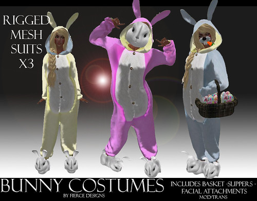 Mesh bunny suits by Fierce Designs