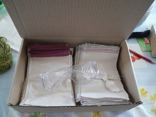 Safety Glasses pouches ready to post