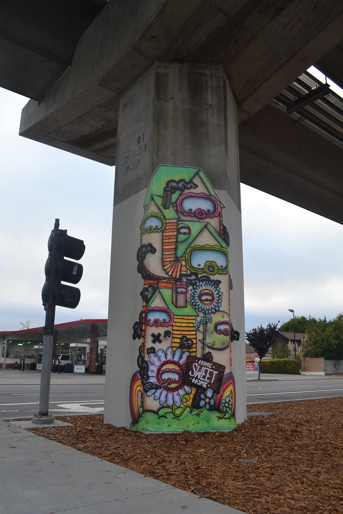 NICE ONE, Oakland, Home Sweet Home, Graffiti, Street Art