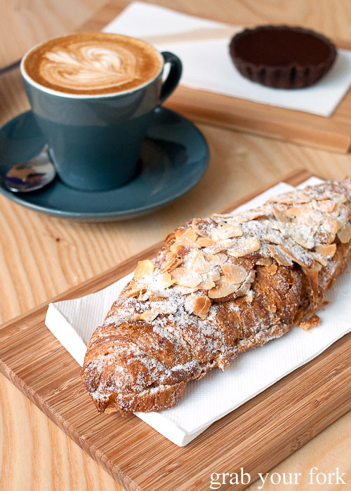 luxe bakery almond croissant at the stables cafe surry hills