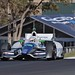 Simona De Silvestro crests the Turn 2 hill during the Sonoma open test