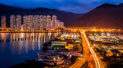 china sea colour night skyscraper asia stream cityscape traffic harbour shatin newterritories maonshan nex6 e24f18za nex6hongkong