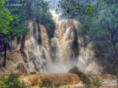 fall asia falls laos lao luangprabang indochina catarats ximopons catarataskuangsi