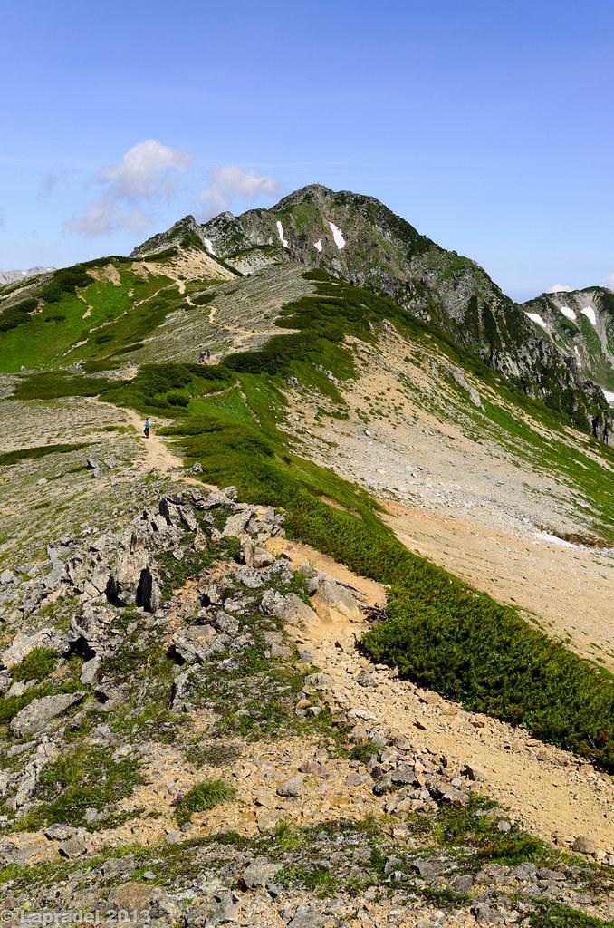 20130811 水晶岳山頂へ