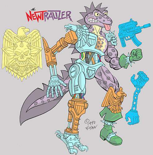 "The Original ""NEWTRALIZER"" .. rejected TMNT Figure design by RYAN BROWN (( 1990 )) [[ Courtesy of R B ]]"