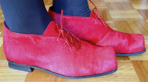 Red cow shoes