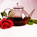 tea pot and rose by Angela Bucci