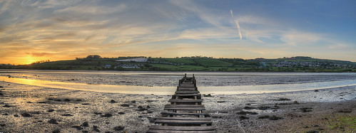 old sunset sun river coast estuary devon fallingapart teignmouth teign