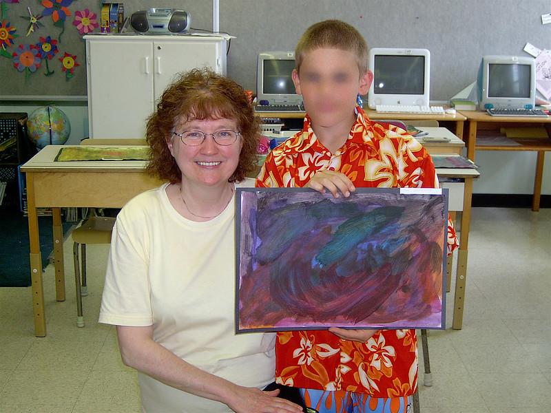 Margin et l'un des élèves